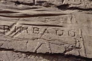 Graffiti left by Rimbaud near Karnak, Egypt.
