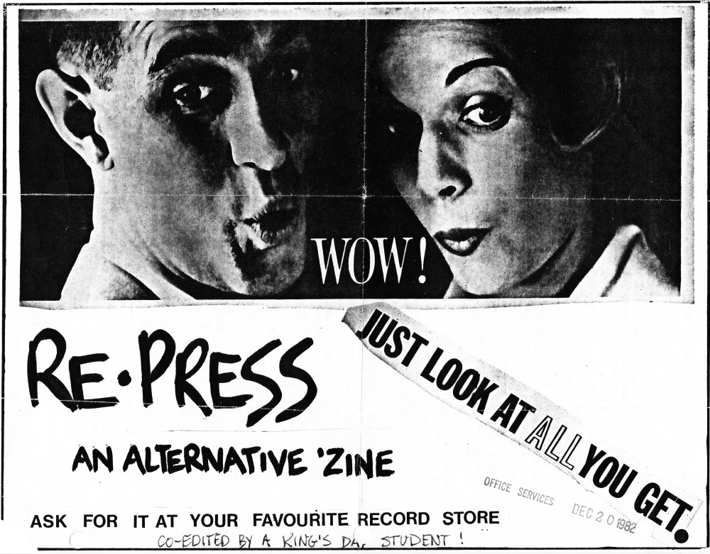 Promotional poster for Re•Press (late 1982).
