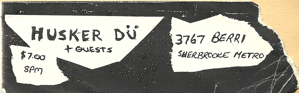 husker du ticket may 85